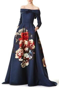 Big Flower Print Maxi Dress