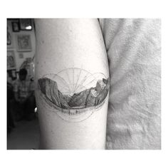 Mini Yosemite tattoo by Dr. Woo