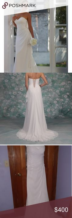 Venus Wedding Dress Excellent condition. Never altered and recently dry cleaned. Only worn for a few hours. Dress sells and is retailed for $600.00 I'm selling for $400.00 or best offer. Venus Bridal Dresses Wedding