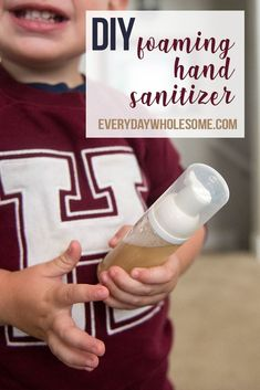 My favorite recipe for DIY Foaming Hand Sanitizer. It is fast, easy and inexpensive. It's the best hand soap around. And you can customize it to be perfect. #foaminghandsoap #foaming #diysoap #nontoxichome #nontoxicliving