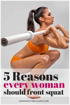 The front squat is an often underutilized but incredibly effective exercise. Find out 5 benefits of the front squat for women in this article Benefits Of Squats, Pilates Benefits, Yoga Benefits, Fitness Motivation, Fit Girl Motivation, Fitness Quotes, Pilates Solo, Squat Workout, Squat Exercise