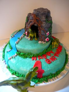 Coolest TRex 3D Dinosaur Birthday Cake Dinosaur birthday cakes