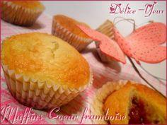 Les Muffins Coeur Framboise ... - Délice-Yeux, l'univers gourmand de Marine
