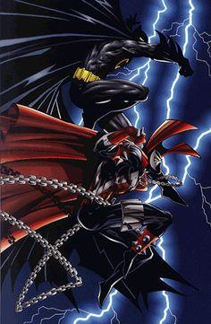 Spawn & Batman by Todd McFarlane-- Enter to win the complete #Batman trilogy -- https://www.facebook.com/MovieRoomReviews?sk=app_228910107186452