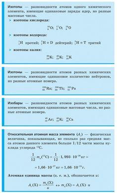 Изотопы, изотоны, изобары