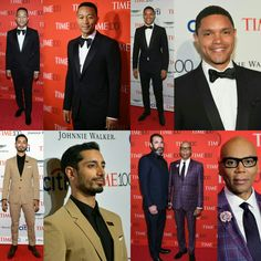 #JohnLegend, #RizAhmed, #TrevorNoah, and #RuPaul(with#GeorgesLeBar) were in attendance at the #Time100 Gala last night!