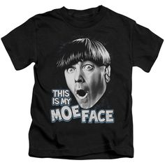 Three Stooges/Moe Face Short Sleeve Juvenile T-Shirt in