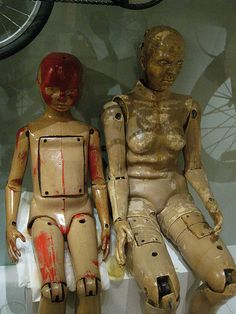 Vintage crash test dummies from the Science Museum, London