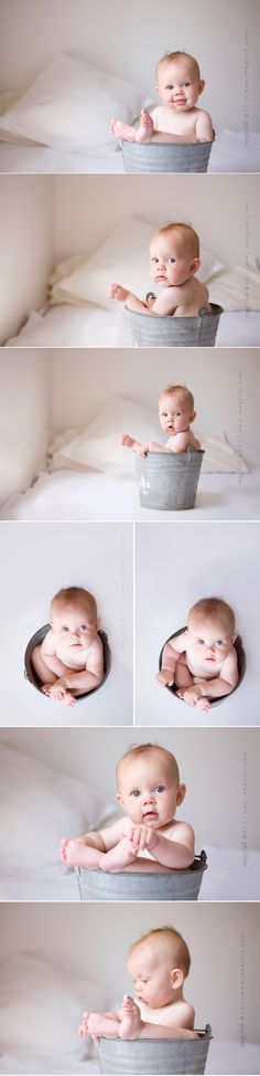 simple sweet #baby  @Kelsey Myers D - 6 month photo idea??