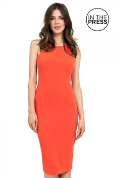 Orange Bodycon Racer £35 Email lovesiennaboutique@gmail.com to place an order x