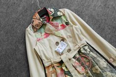 MisterTao: Leading Taobao Agent - Taobao Product - Limited trade desigual Ms. Spain Tide brand windbreaker cotton embroidered flowers in long coat