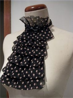 turn a scarf into a jabot