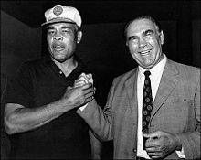 Max Schmeling (right) with Joe Louis in 1971.