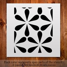 "Reusable Pattern Stencil For Decoration Ideas. Small Stencil. (11"" x 11"")"