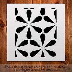 "Reusable Pattern Stencil For Decoration Ideas. Small Stencil. (11"" x 11"")"