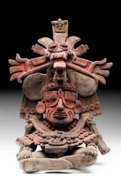 Urna del Dios Viejo 5 F, Loma Larga, Mitla, Oaxaca  - Museo Nacional de Antropología