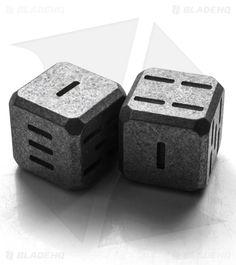 Flytanium Sci-Die + White Tritium Large Titanium Dice - Stonewash Set of 2 Edc Gadgets, Cool Gadgets, Magic The Gathering, Game Master, Global Knife Set, Dungeons And Dragons Dice, Edc Gear, Tabletop Games, Jouer