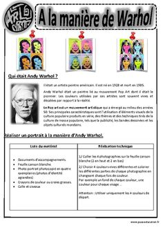 Andy Warhol – Portraits – – – – Arts visuels – Cycle 3 Source by ldemilecamps Art Andy Warhol, Andy Warhol Portraits, Montessori Art, Ecole Art, Arte Pop, Elements Of Art, Teaching Art, Art History, History Projects