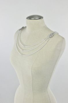 Bridal Jewelry Wedding Shoulder Necklace by CamillaChristine