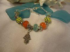 SALE Hamsa Charm Bracelet by Nezihe1 on Etsy, $18.00