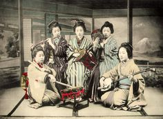 "Tsutsumi orchestra from ""Illustrations of Japanese Life"", 1896 by K. Ogawa"