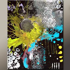 Custom Abstract Canvas Art Painting MADE TO ORDER by wostudios