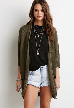 Open-Front Dolman Cardigan | Forever 21 - 2000053260