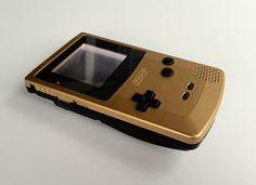 Image of Gold/Matte Black Frontlit Gameboy Color!