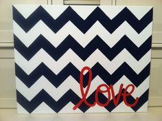"Hand-painted ""Love"" art for our master bedroom!"