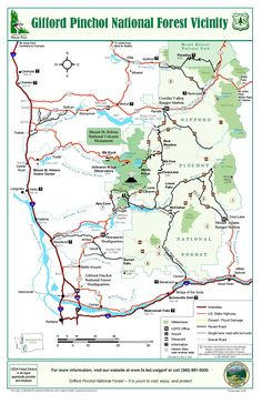 Gifford Pinchot National Forest general map