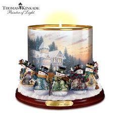 Thomas Kinkade Making Spirits Bright Candleholder by The Bradford Exchange  by The Bradford Exchange   $99.99  #deckthehalls