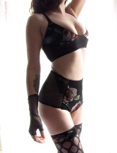 Hey, I found this really awesome Etsy listing at https://www.etsy.com/listing/181948376/black-velvet-high-waist-sheer-underwear