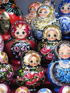 Matryoshka dolls...not site if they are really Hungarian...we bought some Russian dolls like this.