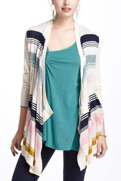 Covell Cardigan  --  Love the colors and the style.   I have a light sweater with me all the time.