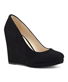 Take a look at this Black Halenia Suede Wedge today!