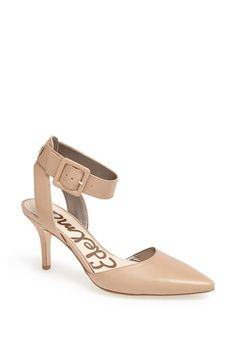 Free shipping and returns on Sam Edelman 'Okala' Pump (Women) at Nordstrom.com. A bold ankle-wrap strap lends saucy sophistication to an appealing almond-toe pump set at a just-right height.