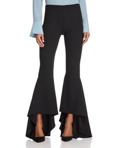 Alice and Olivia Alice + Olivia Jinny High/Low Flare Pants Women - Bloomingdale's Short Red Prom Dresses, Prom Dresses With Pockets, Black Flare Pants, Flare Leg Pants, Fashion Pants, Fashion Outfits, How To Hem Pants, Cheap Dresses, Leggings Are Not Pants