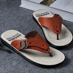 b395e6286 Roman мужские летние сандалии шлепки зажим носок пляжная обувь тапочки  оранжевый US9.5