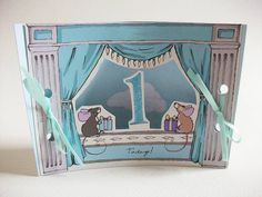 mini theatre age one card by kat whelan illustrations | notonthehighstreet.com