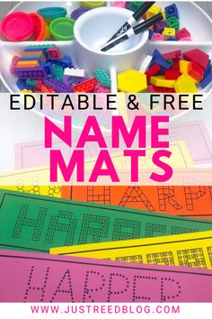 FREE Editable Name Practice Mats – Just Reed & Play Hands-on name practice activities are perfect for preschool or kindergarten. These FREE editable name mats make learning names easy and fun. Kindergarten Name Activities, Preschool Names, Preschool Writing, Preschool Lessons, Kindergarten Classroom, Preschool Activities, Classroom Behavior, Classroom Fun, Preschool Learning