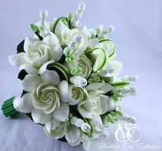 Gardenia Wedding Bouquet | Gardenia Bridal Bouquet | Gardenia and Pikake Wedding Bouquet by ...
