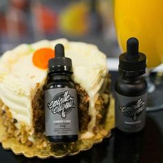 Tis the season for......carrot cake! YUM. By:@epistleeliquid :@vapingroybot  Now available at www.beyondvape.com.  #CarrotCake captures the familiar flavor of this beloved age-old dessert in a conveniently sized bottle. Fluffy cake batter is filled with the perfect blend of cinnamon and spices and topped with a delightful cream frosting resulting in a flavor experience which is truly