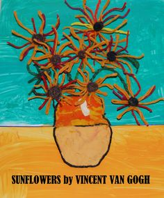 Vincent Van Gogh SUNFLOWERS for #Kids - come learn about the artist and create with us!