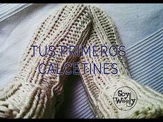 Patrón para que tejas los calcetines más fáciles del mundo con dos agujas en español