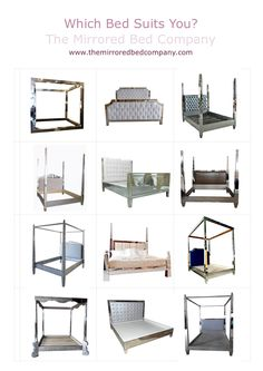Just a few of the beautiful mirrored beds we make for our customers globally! www.themirroredbedcompany.com