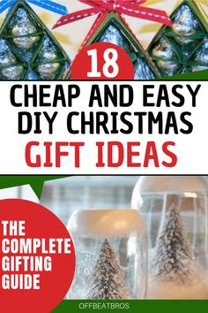 18 Best DIY Christmas Gifts Your Friends Will Love Amazing DIY christmas gifts ideas for family, friends co-workers that looks beutiful but are cheap and easy to make. These list of christmas gift ideas on budget is all you need. Handmade Christmas Crafts, Cheap Christmas Gifts, Christmas Crafts For Kids To Make, Diy Holiday Gifts, Christmas Diy, Christmas Things, Christmas Quotes, Christmas Shopping, Holiday Crafts