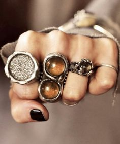 Rings! Love the amber.