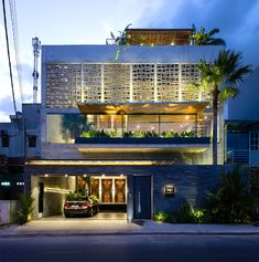 Creative Architecture, House, Vaco, Design, and - image ideas & inspiration on Designspiration Arch House, Facade House, Facade Design, Exterior Design, Residential Architecture, Interior Architecture, Courtyard House, Building Facade, Tropical Houses