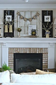 18 Spring Mantel Decorating Ideas You\'ll Want to Copy | Board ...