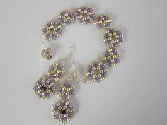 Purple Beaded Bracelet - YouTube